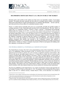 White Paper: Deciphering Monetary Policy as a Means to Beat the Market